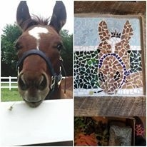 Custom Barn Wood Framed Mosaic Horse