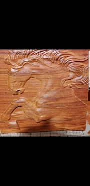 3D horse (shown in African Padauk wood)