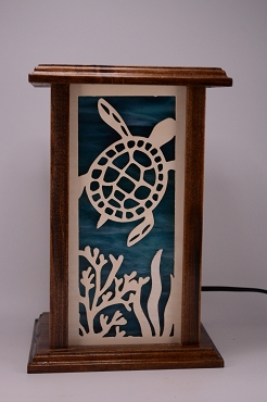 Sea Turtle Lamp 2 Tone