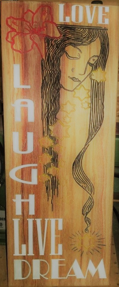 Live Laugh Love (Shown on Canary Wood)